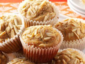 Muffins aux pommes et aux amandes